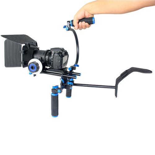 micro cine rigs hombro yelangu ylg1102a-b doblan manija kit