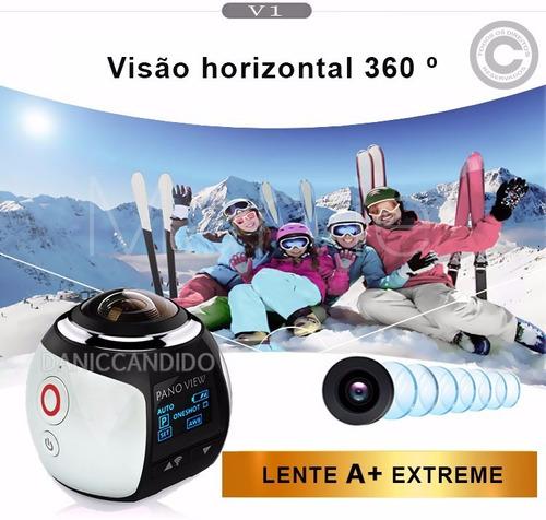micro câmera filmadora 360° + óculos vr 3d. pronta entrega