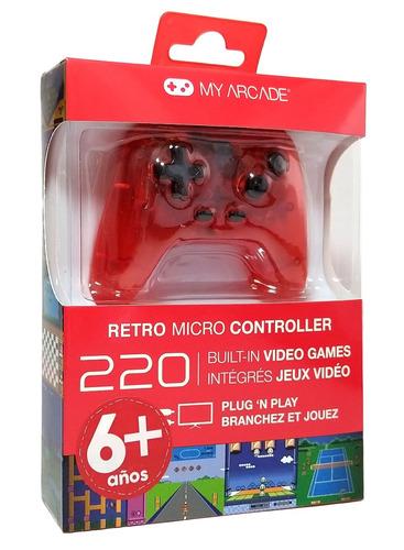 micro control retro con 220 juegos plug and play my arcade