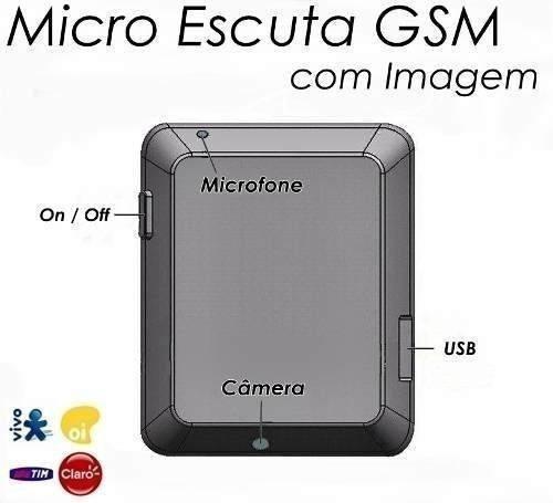 micro escuta espiã gsm x009 filmadora - audio / video / foto