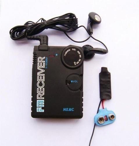 micro escuta fm receptor e transmissor espiao.