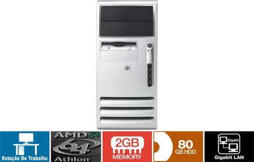 micro hp athlon 64 hd 80 gb 2 giga memória 12x sem juros