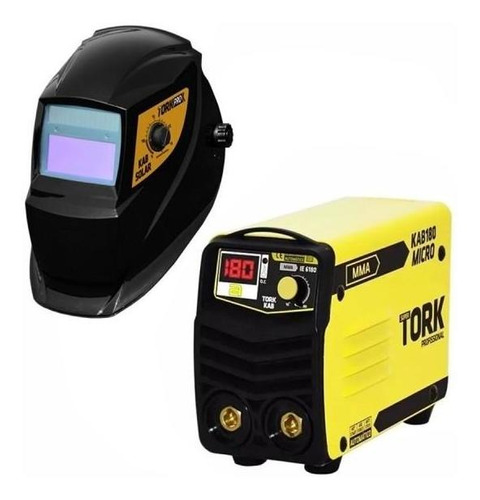 micro inversora kab 180a + máscara automática tork - 220v