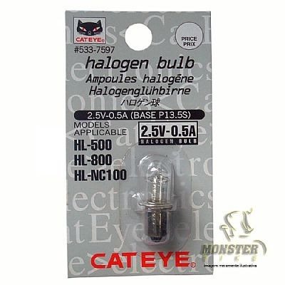 micro lampada halogen p/farol cateye mod hl500 hl800 hlnc100