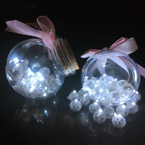 micro led bexiga luz festa balão decoração cor branca c/ 50