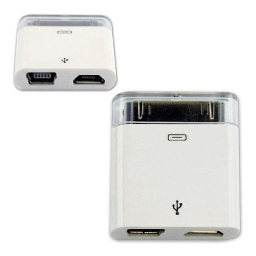 micro-mini usb hembra a adaptador de 30 pines iphone 4, ipod