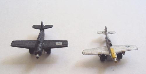 micro minis, set 2 aviones tipo micro machines