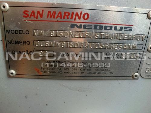 micro ônibus vw 8.150 neobus 2003/2003