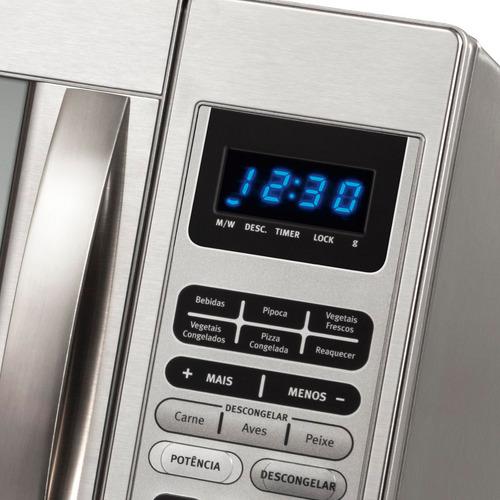 micro-ondas electrolux 45 litros espelhado inox 220v - mex55