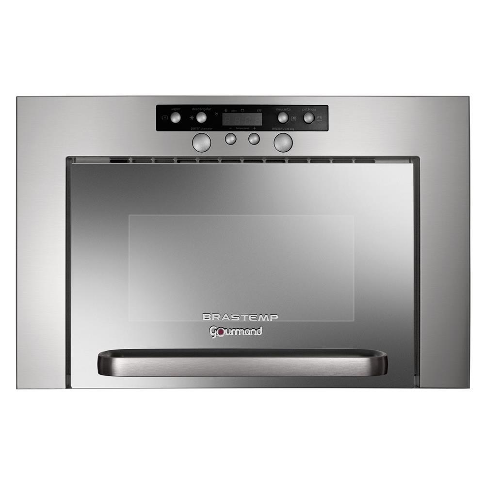 11d4d9a0a Micro-ondas Embutir Brastemp Gourmand Bme25br 20l Inox 220v - R  2.129