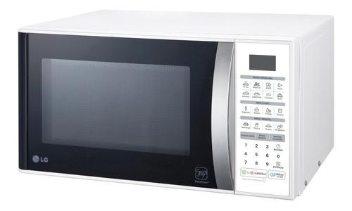 micro-ondas lg easy clean 30 litros branco ms3052r 127 volts