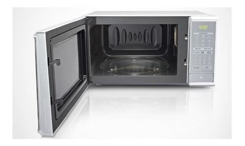 micro-ondas lg easy clean 30l prata espelhado 110v - ms3059l