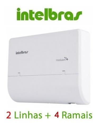 micro pabx intelbras conecta + 2 linha 4 ramais ou 2x8* full