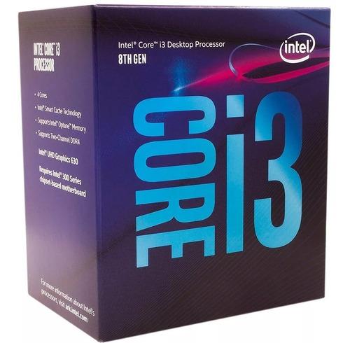micro procesador intel core i3 8100 3.6ghz coffee lake envio