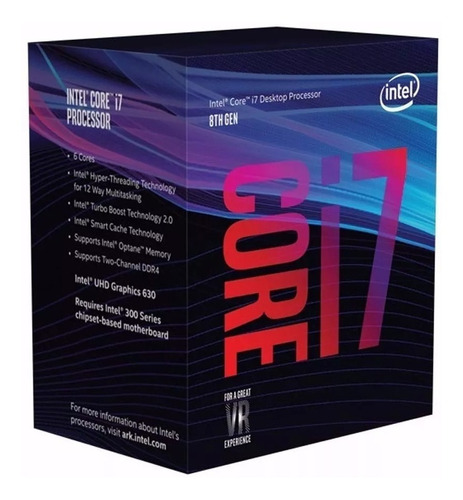 micro procesador intel core i7 8700k 4.7ghz coffee fullh4rd