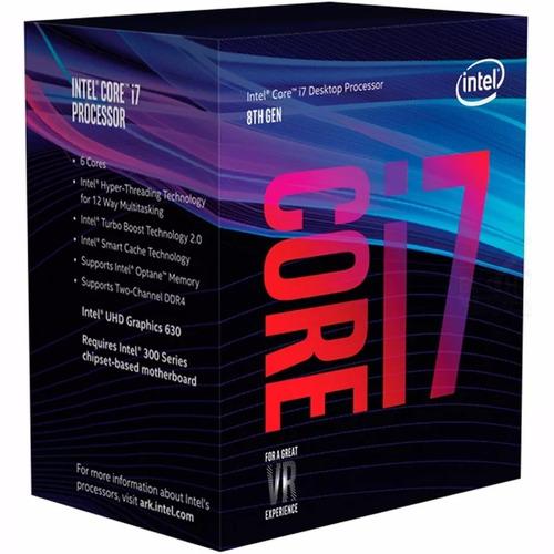 micro procesador intel core i7 8700k 4.7ghz coffeelake games