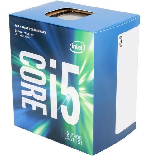 micro procesador intel i5 7400 3.6ghz kabylake 1151 7ma