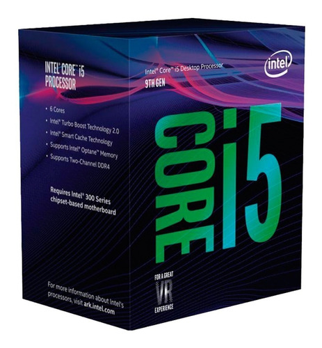 micro procesador intel i5 9400f 4.0ghz coffe lake 1151