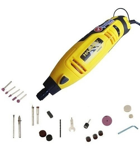 micro retifica eixo chicote e acessorios maleta hammer 127v