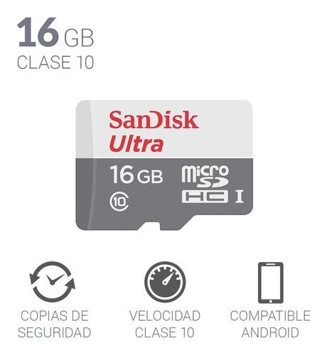micro sd 16 gb memoria sandisk ultra celular tablet