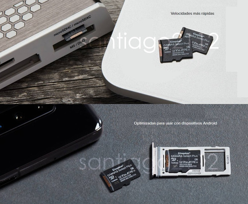 micro sd 16gb 32gb 64gb 128gb kingston clase 10 originales