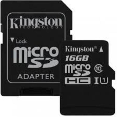 micro sd 16gb kingston clase 10 celular camaras mp5 canvas
