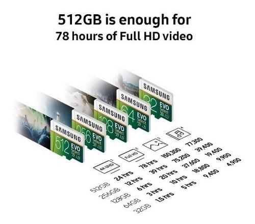 micro sd 256 gb evo select samsung