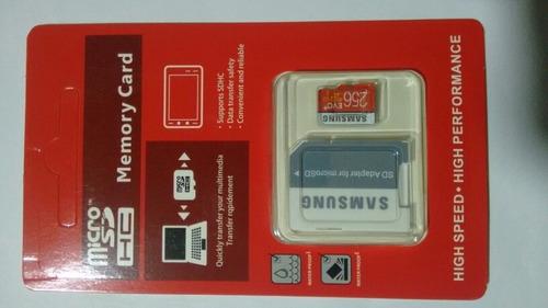 micro sd 256 gb samsung evo u 3 - memoria sd para celulares