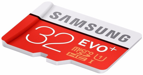 micro sd 32 gb samsung evo plus +, 80mb/s