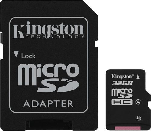 micro sd 32 gigas c/adaptador sd camara mp3 mp4 pda palm
