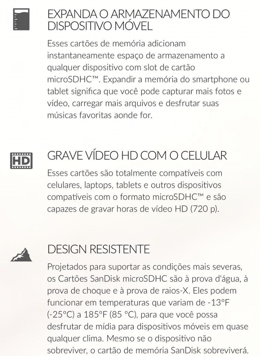 71b8f594a52 Micro Sd 32gb - R$ 34,99 em Mercado Livre