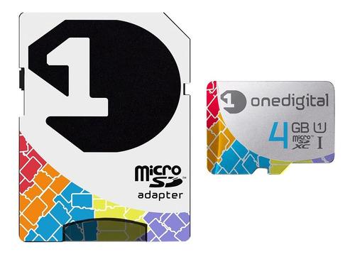 micro sd 4gb hc con garantía extendida a 10 años