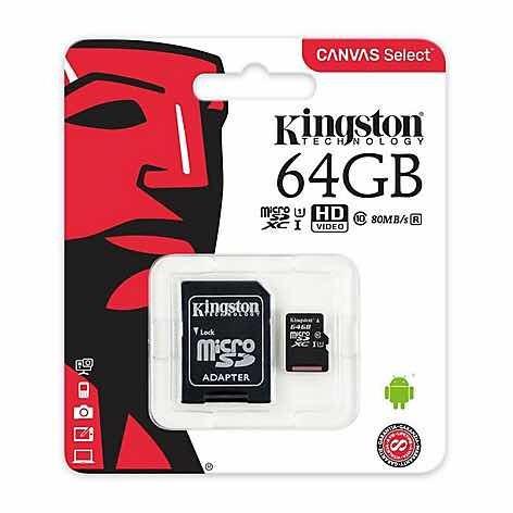 micro sd 64 gb kingston clase 10