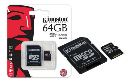micro sd 64gb memoria kingston clase 10 celular tablet