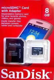 micro sd 8gb sandisk