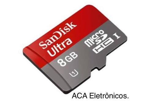 micro sd 8gb ultra sandisk , 1 ano de garantia do vendedor .