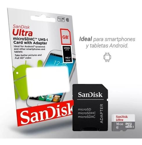 micro sd clase 10 memoria sandisk 16 gb