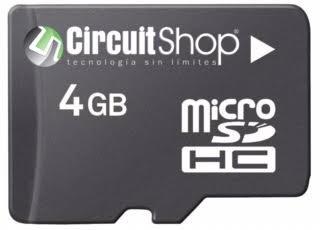 micro sd de 4gb clase 4 circuit shop