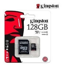 micro sd kingston 128 gb original cls 10 80 mb/s san carlos