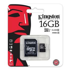 Micro Sd Kingston 16gb Clase 10 100% Originales, Nueva!