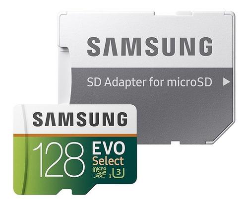 micro sd samsung evo select 128gb 100mb/s u3 - 1520 vendidos