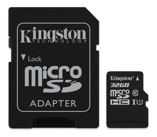 micro sdhc kingston 32 gb clase 10 canvas select 80 mb/s