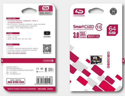 micro sdxc 64 gb ld clase 10 full hd