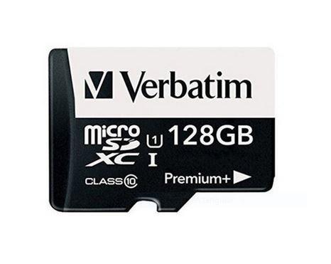 micro sdxc128gb c10 verbatim + adaptador + estuche + lector