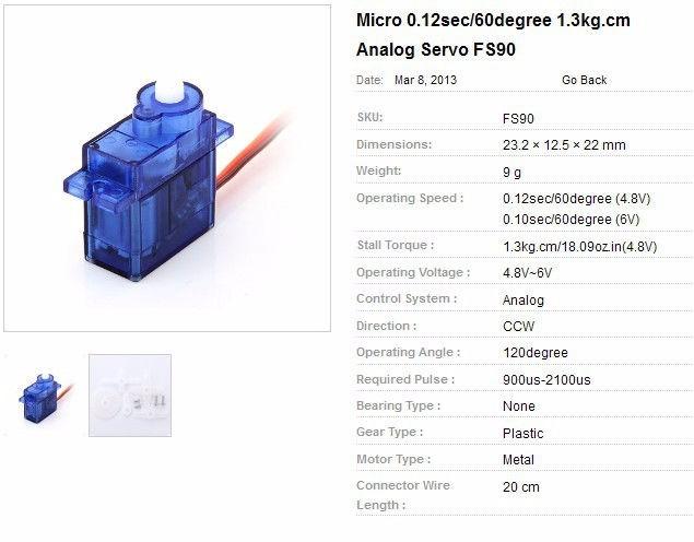 Buy sg90 9g micro servo motor   sumozade. Com.