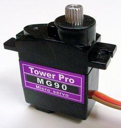 micro servomotor mg90s piñoneria metalica arduino
