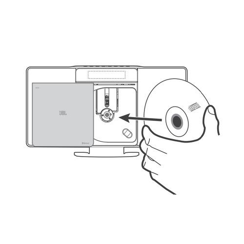 micro system jbl ms202 bluetooth usb cd mp3 player relógio