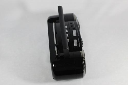 micro system radio am fm card reader usb bateria recarregar