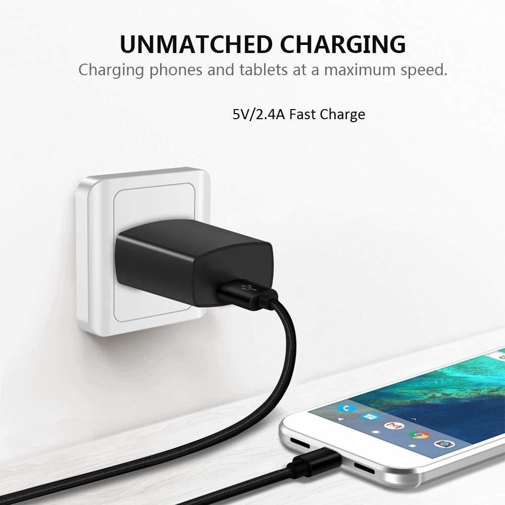 Micro Usb Charger Cable 6ft For Lg K20/k20v/plus/v,k10 2017,