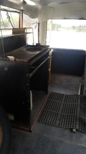 microbus chevrolet 1989 acodicionado para preparar comida